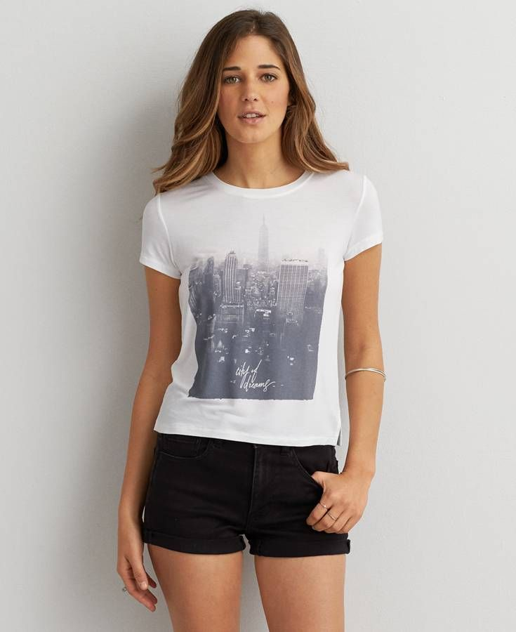 f7097006 American Eagle Soft & Sexy Graphic Baby T-Shirt, Women's, White. Find this  Pin and more ...