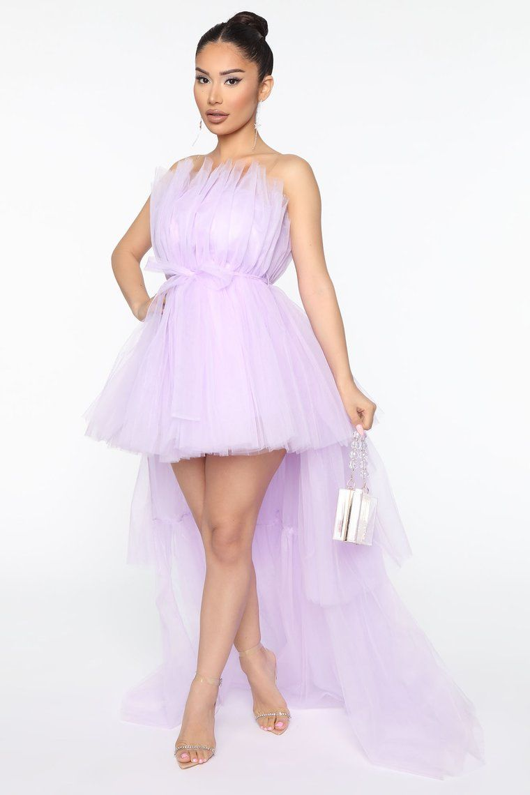 Exclusive After Party Tulle Maxi Dress Lavender in 2020