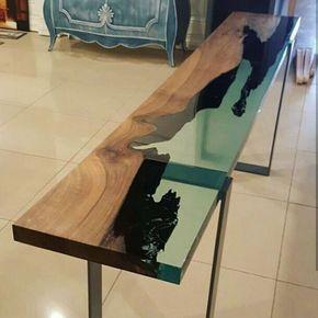 Beliebt Acryl Resin Epoxy | Table | Harztisch, Wohnkultur ideen und Holzdesign SL56