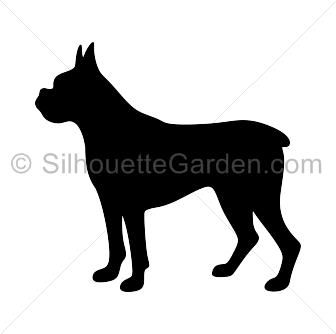 Boxer Dog Silhouette Dog Silhouette Boxer Dogs Animal Outline
