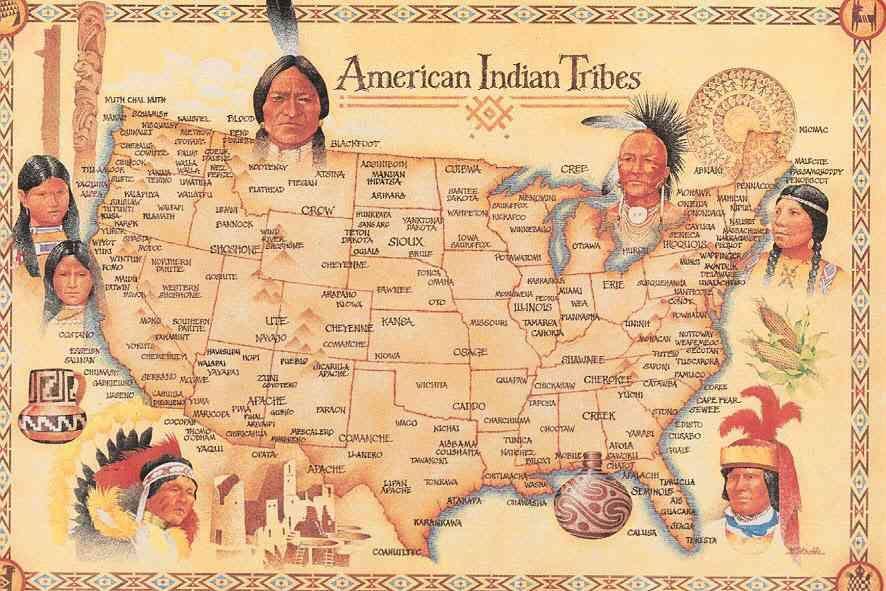 Tribu Indienne Carte.Carte Des Tribus Amerindiennes Les Indiens Photos