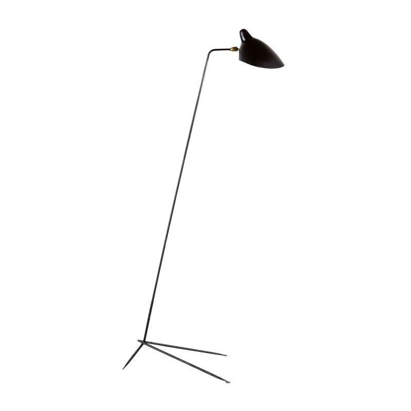 Floor Lamp Model Single By Serge Mouille 1950s Mouille