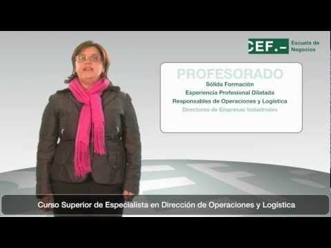 Curso Superior de Especialista en Dirección de Operaciones y Logística: http://www.cef.es/Cursos/curso-superior-especialista-direccion-operaciones-logistica.html