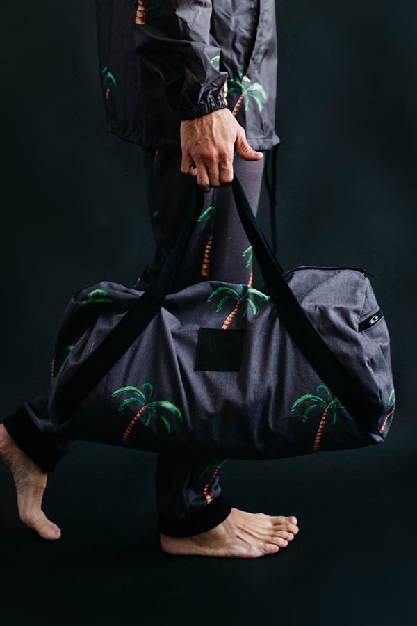 Palm Tree Duffel, Duvin, Fall 15, Holiday 15 Collection, Men's Fashion, Streetwear, Streetstyle, Surfwear, Florida, Duvin Design, Surf