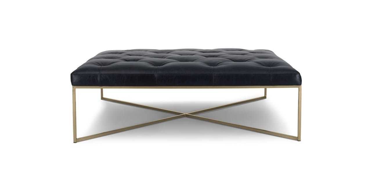 Tablet Charme Blonde Square Ottoman In 2020 Leather Ottoman Coffee Table Square Ottoman Square Ottoman Coffee Table