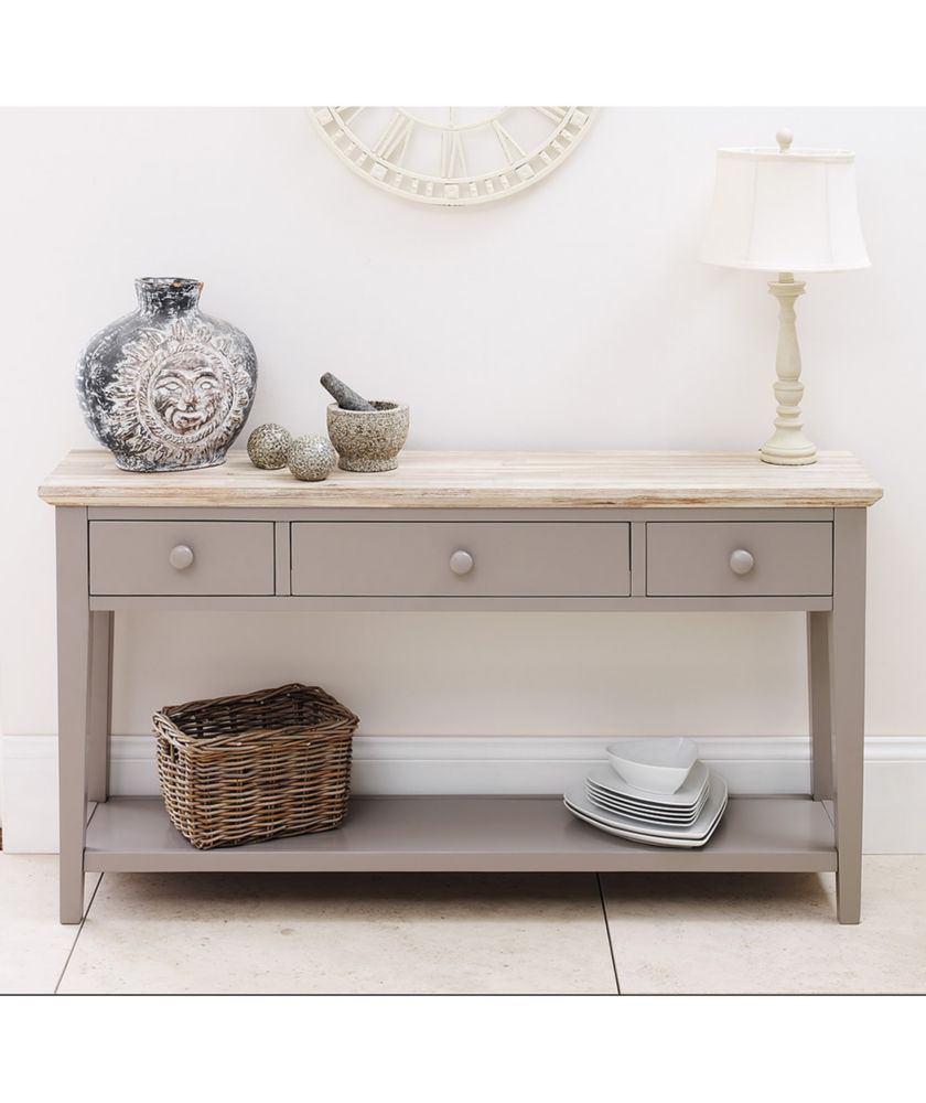 Buy Fairview Wooden Console Table With 3 Drawers Grey At Argos Co Uk Your Online Shop For Occas With Images Gray Console Table Hall Console Table Console Table Hallway