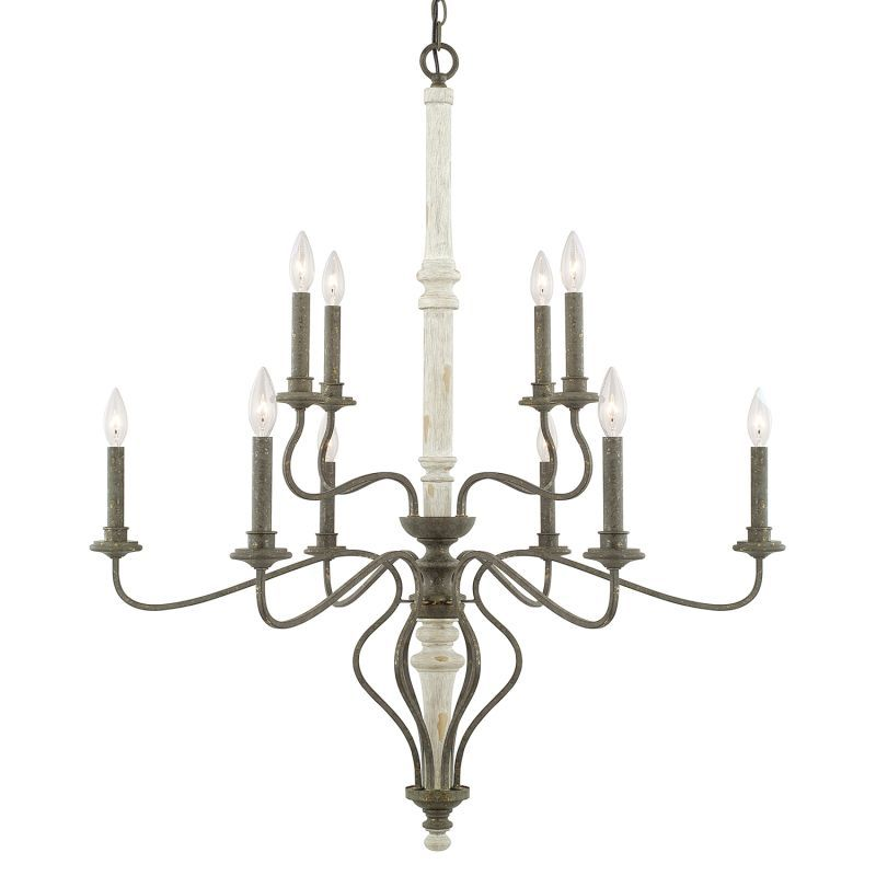 view the capital lighting 410301 nora 10 light 2 tier chandelier at