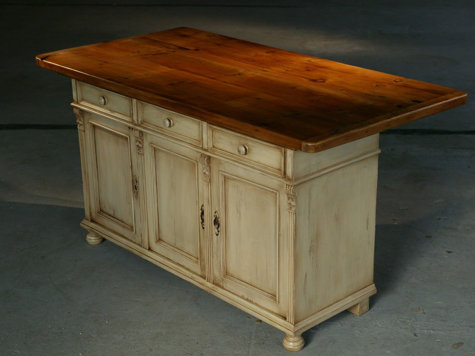 Kitchen Island Furniture European Sideboard Base in Snow White