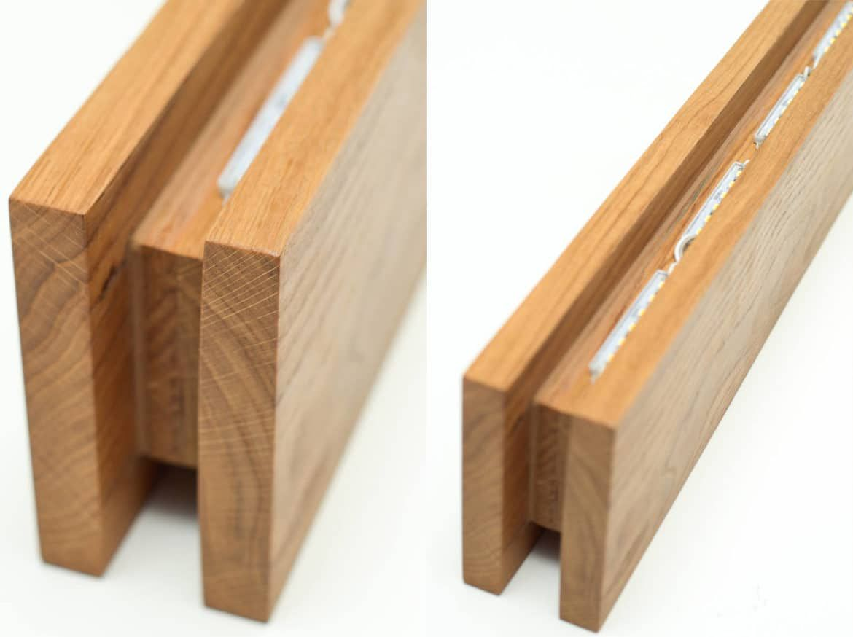 Handmade oak wooden sconce architecture pinterest walls