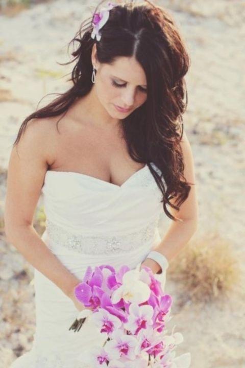 45 Awesome Beach Wedding Hair Ideas Beach Wedding Hair Gorgeous Wedding Makeup Wedding Hair Flowers