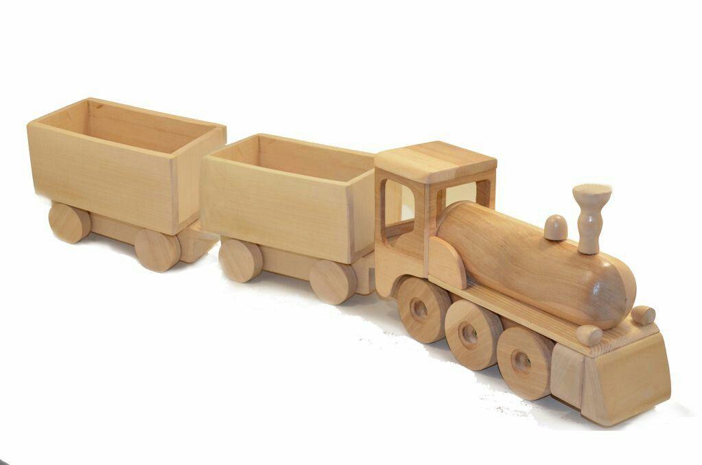 Toy wooden train
