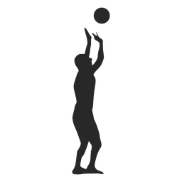Volleyball Player Setting The Ball Silhouette Silhouette Volleyball Players Volleyball