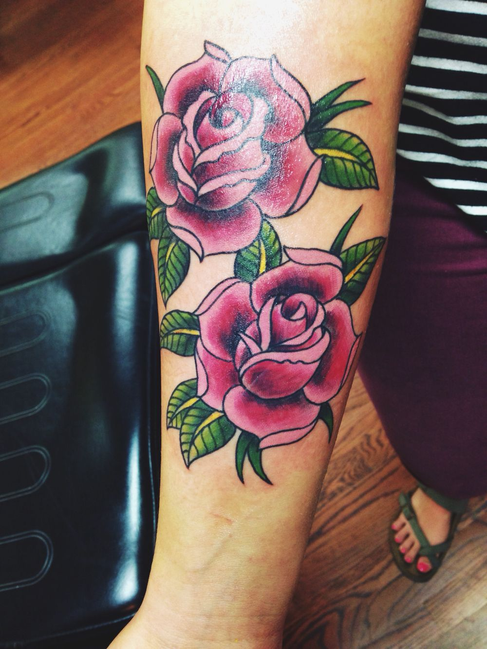 Rose Tattoos Flower: Traditional Rose Tattoos