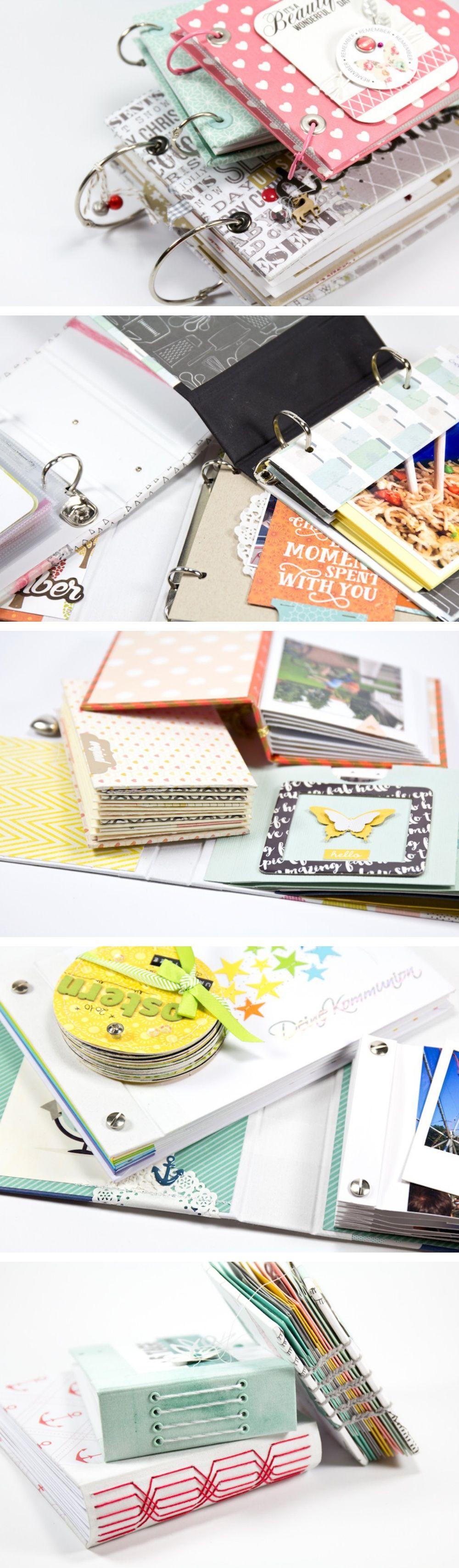 So viele Möglichkeiten Minialben zu binden :) | von Mel für www.danipeuss.de