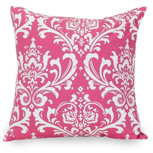 Majestic Home Goods 85907210815 Hot Pink French Quarter Large Pillow 20x20