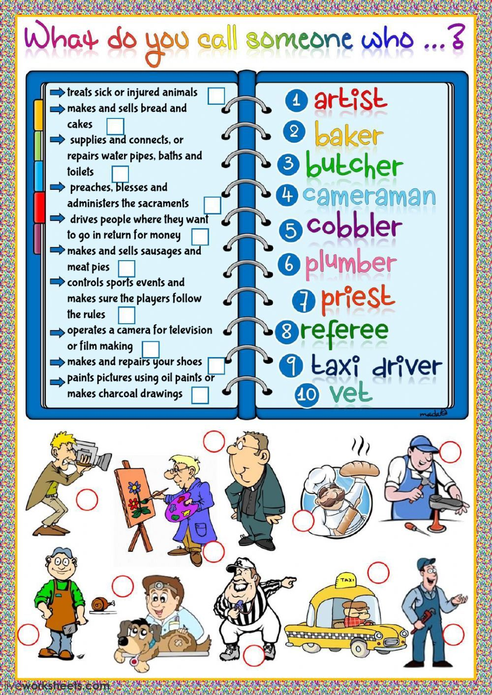Jobs And Occupations Interactive And Downloadable Worksheet You Can Do The Exercises Online Or Down English As A Second Language Teacher Helper Marketing Jobs [ 1413 x 1000 Pixel ]