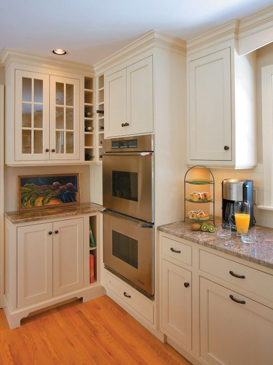 Built In Cabinet Pantry In Small Kitchen 16 Inches Deep ...