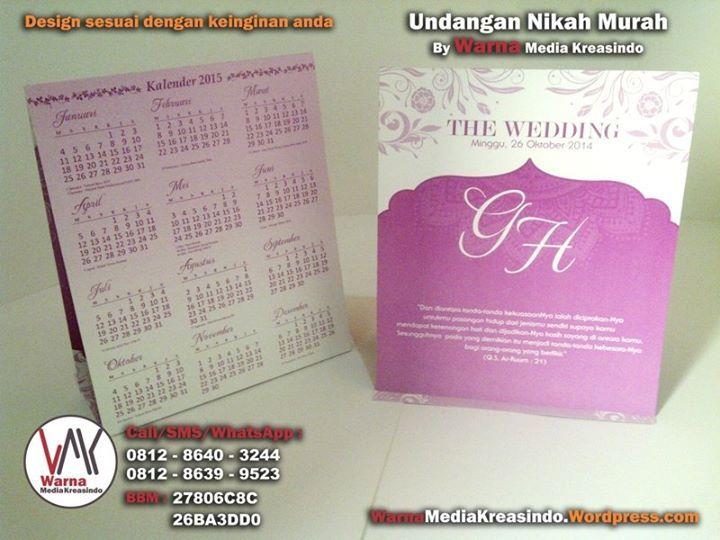 Undangan kalender dengan nuansa floral ungu - whatsapp ...