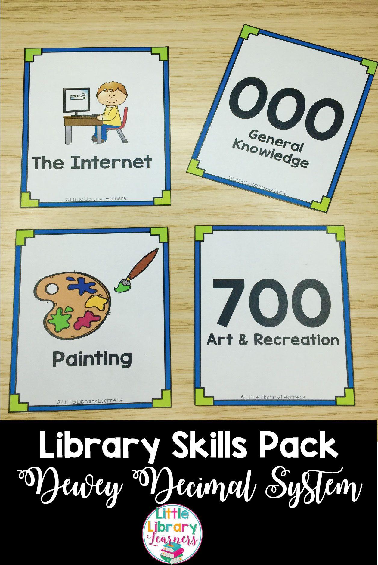 Library Skills Dewey Decimal System Pack