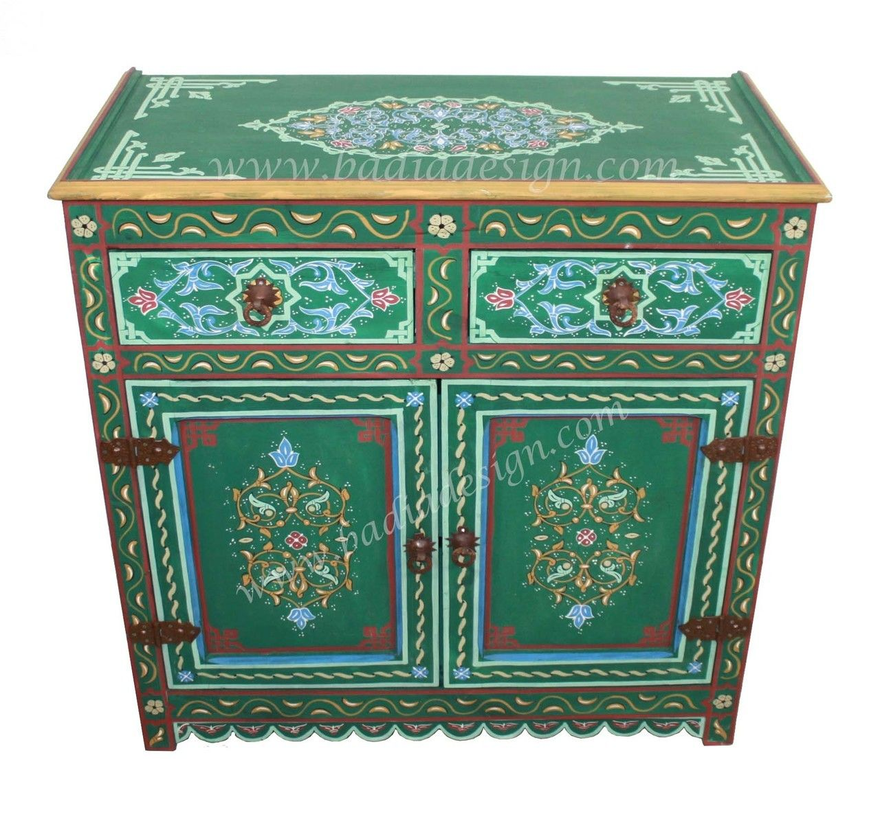 Hand Painted Wooden Cabinet Hp Ca038 Wooden Cabinets Painting Cabinets Hand Painted