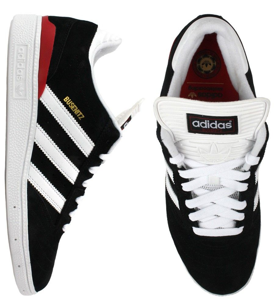 Adidas Busenitz Pro Shoes - Black Running White University Red  67.00   adidas  busenitz 0468511fc