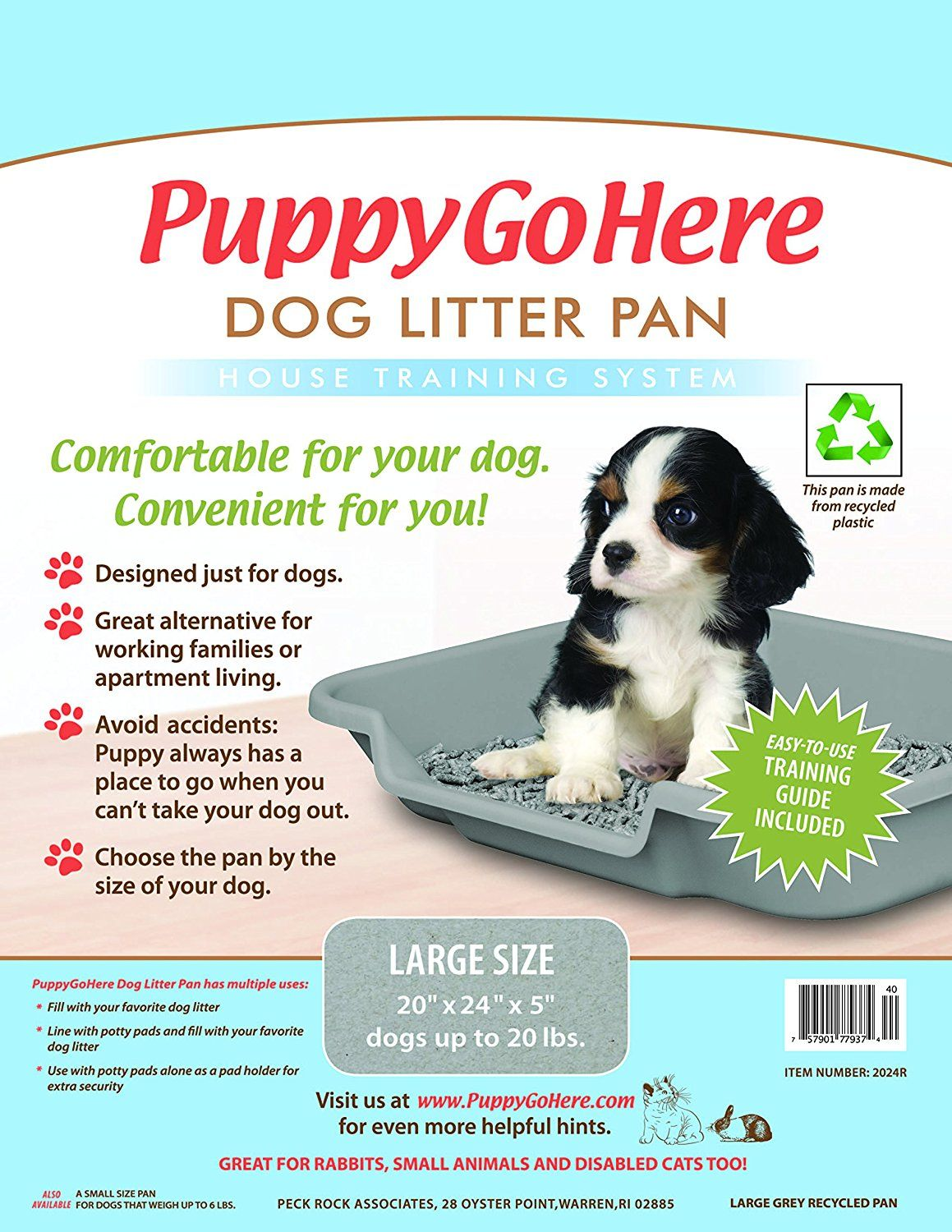 Dog Litter Pan By Puppy Pan Recycled Gray Color 24 X 20 X 5