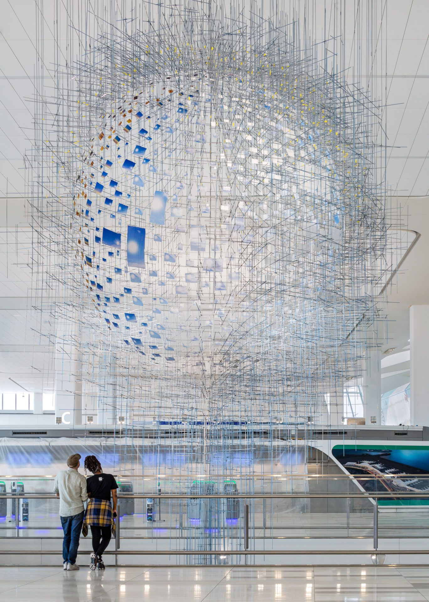 New York Governor Andrew Cuomo Used One Of His Briefings To Unveil A New Set Of Public Artworks At Laguardia Airport In 2020 Public Art Public Artwork Installation Art