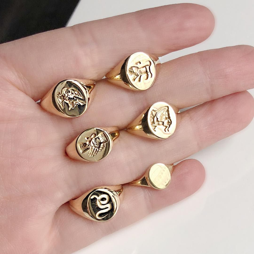 """Photo of Vale Jewelry on Instagram: """"Hard to pick just one…our signet rings and medallion collection available for order by DM or email #signetring #recycledgold #madeinnyc…"""""""