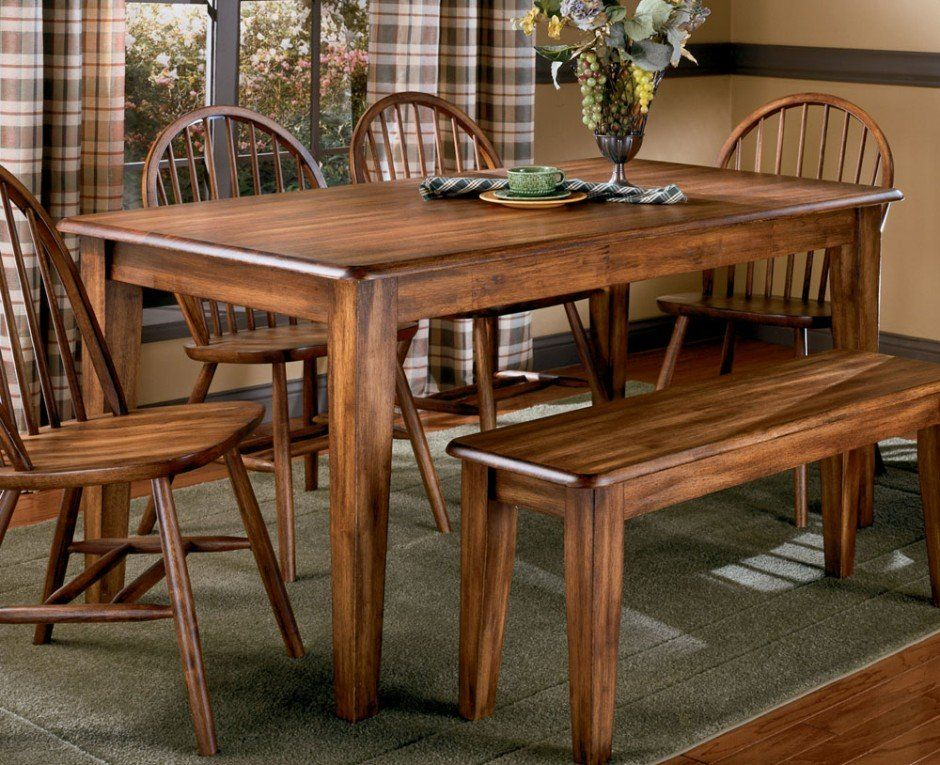 High Quality Dining Room, Old And Vintage Country Style Dining Room Sets With Varnish  Wooden Dining Table. Kitchen ...