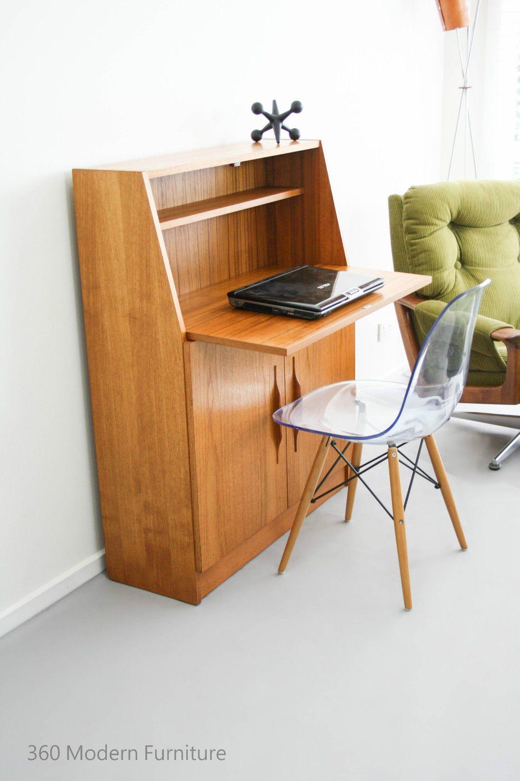 Mid Century Macrob Teak Vintage Retro Desk Study Hall Table