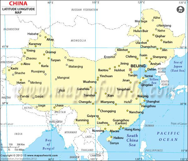 Map Of China With Latitude And Longitude.China Latitude And Longitude Map China Latitude Longitude Map