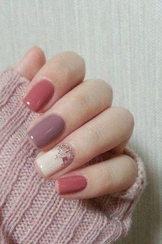 Chic Winter Nail Designs für kurze Nägel 07 - #Chic #Designs #für #kurze #Nägel #Nail #Winter #fallnails