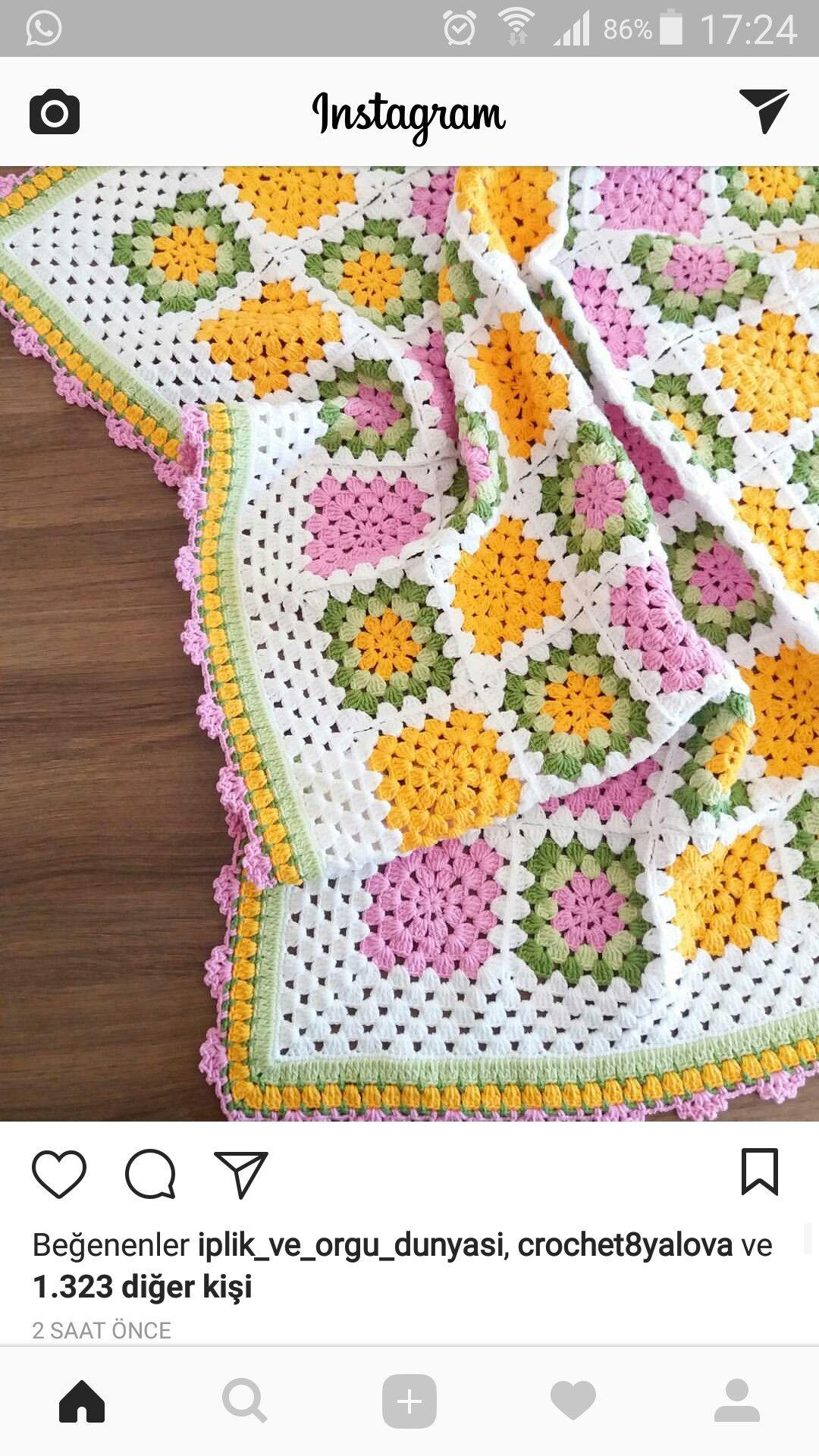Pin de nena garcia castillo en crochet | Pinterest | Manta, Colchas ...