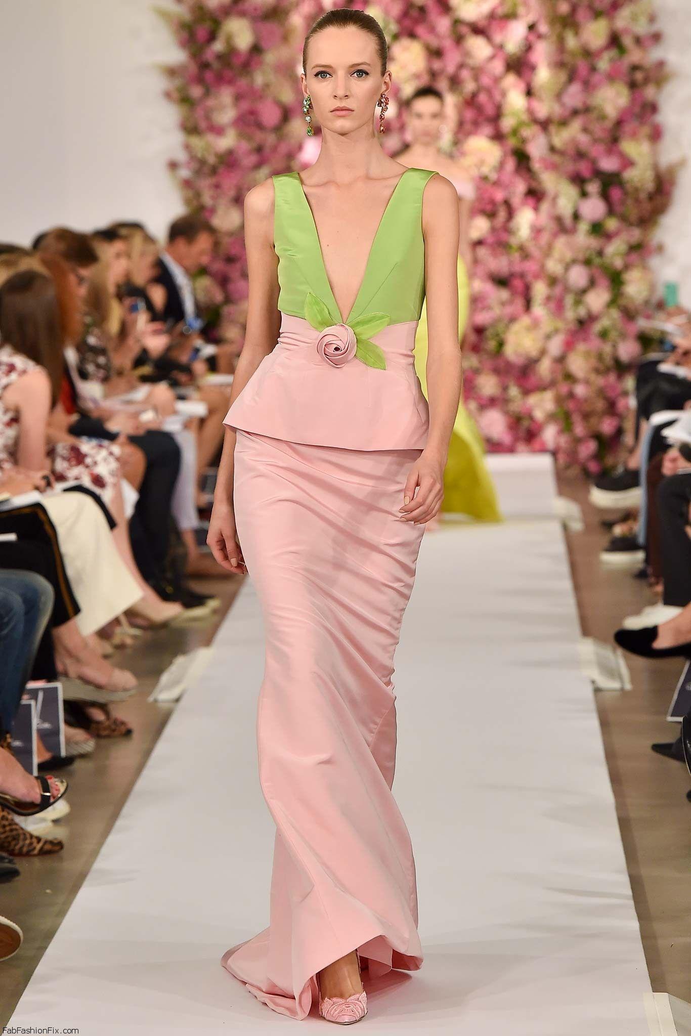 Oscar de la Renta spring/summer 2015 collection - New York fashion ...
