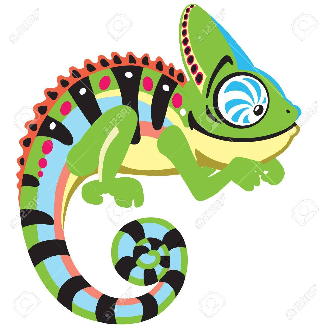 Cartoon Chameleon Lizard Side View Image Isolated On White Sponsored Lizard Side Cartoon Chamel Dibujos De Lagartijas Tatuaje De Camaleon Camaleon