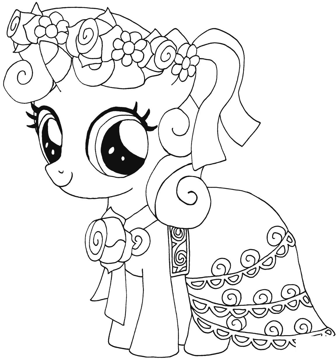 kleurplaten pony
