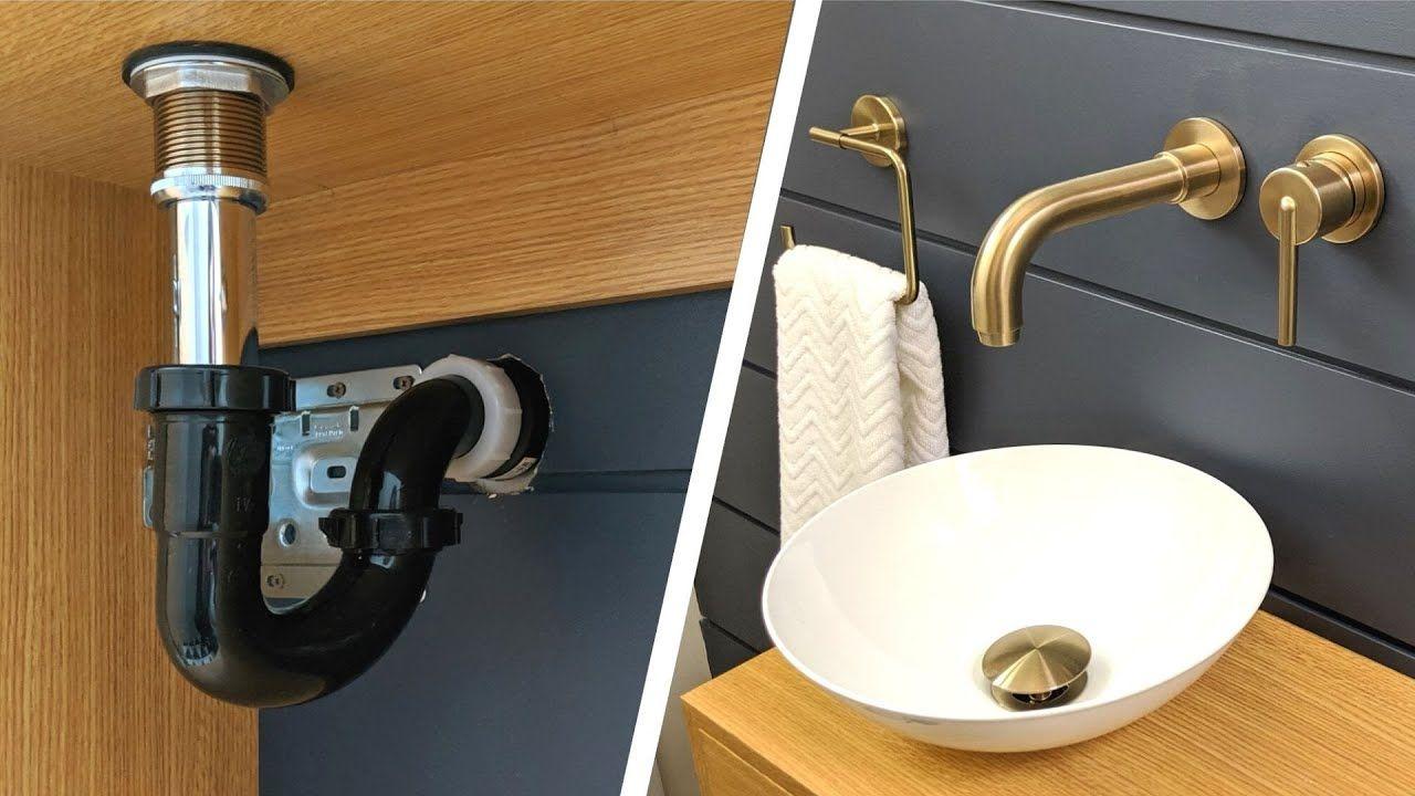 Bathroom Sink Plumbing Installation How To Install A P Trap With Images Bathroom Sink Plumbing Plumbing Installation Sink