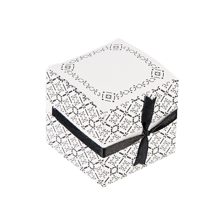 Black & White Ribbon Weave Gift Boxes - OrientalTrading.com ...