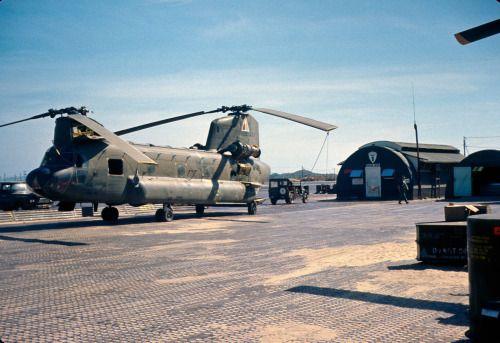 US Army Boeing CH-47 Chinook at Vung Tau. #VietnamWarMemories