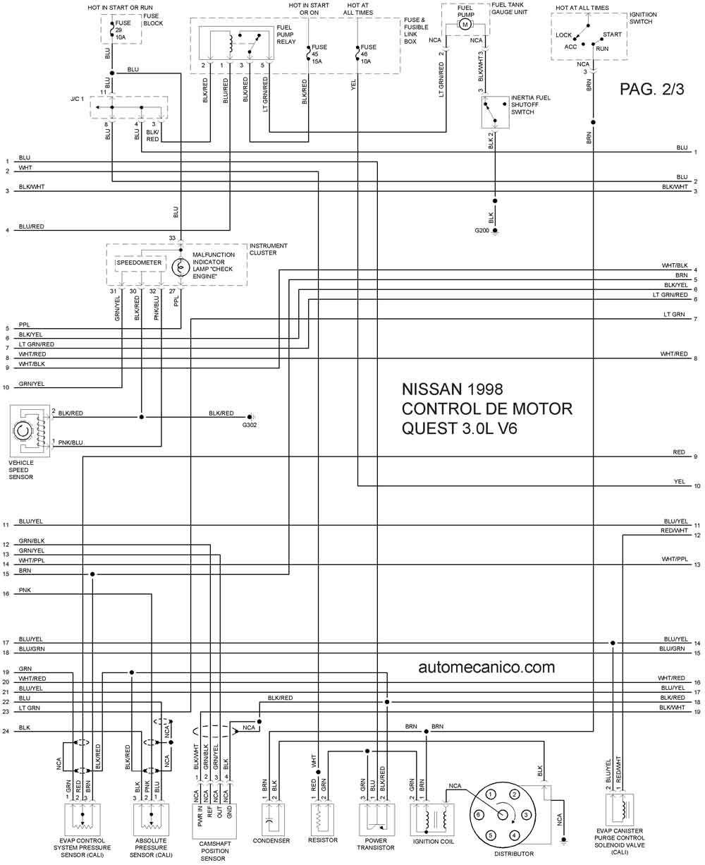 Diagrama Electrico Nissan Tsuru Ii 4 Chrysler Pacifica Nissan Nissan Sentra