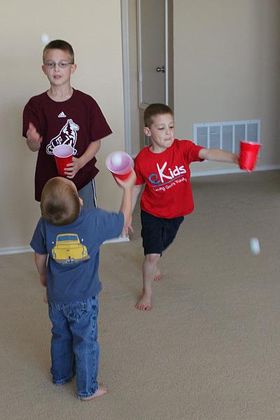 Ping Pong Ball Catch Summer activities for kids
