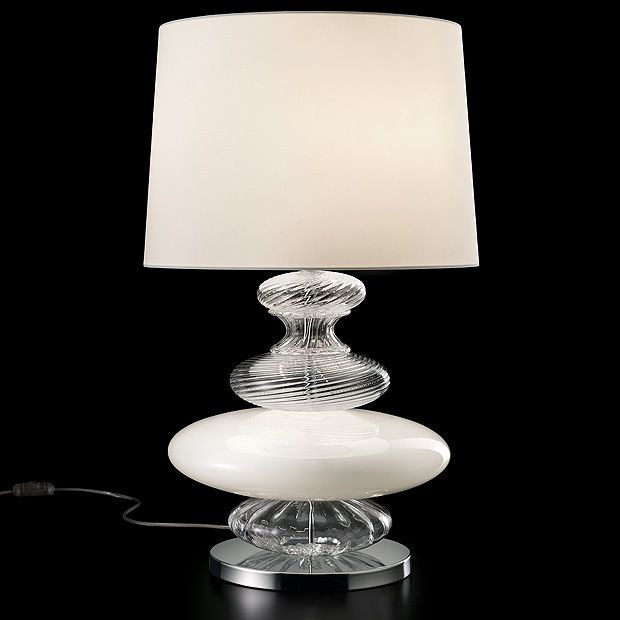 Barovier & Toso - A table lamp with a lavish central body with ...