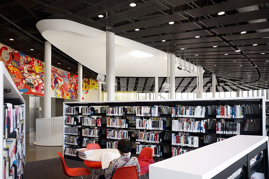 Chicago Public Library Chinatown Branch Opened August 2015 Architects Skidmore Owings And