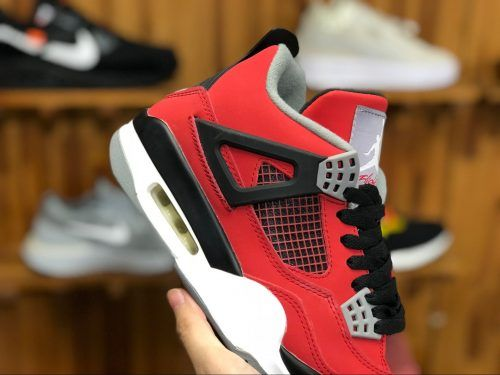 f913de89f331c7 Mens Air Jordan 4 Retro Toro Bravo Fire Red White-Black-Cement Grey  308497-603-1
