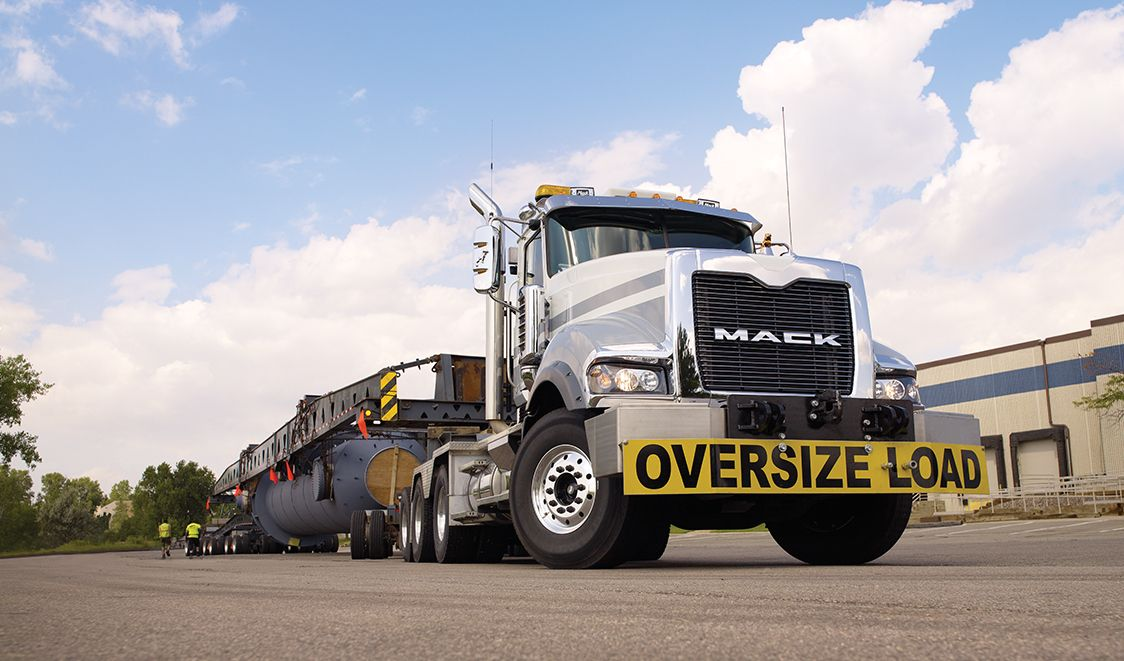 Mack titan oversize load mack truck titan series pinterest mack trucks are built to last every semi truck is born ready for the toughest road conditions and long haul challenges mozeypictures Image collections