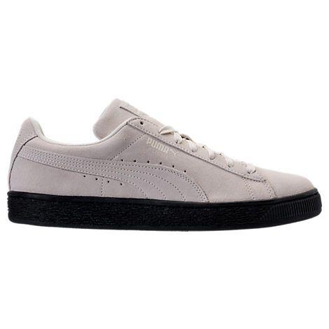 men's puma suede black sole casual shoes  men suede