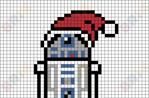 R2d2 Star Wars Christmas Pixel Art Star Wars Christmas