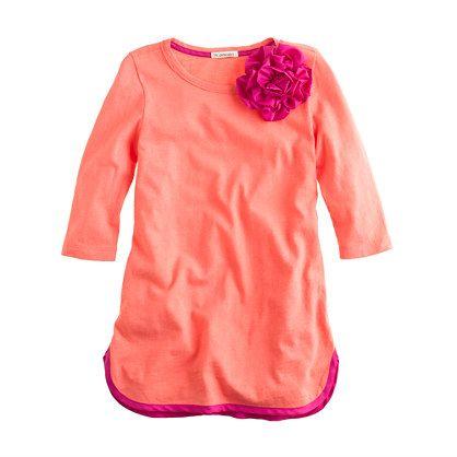Girls' corsage tunic