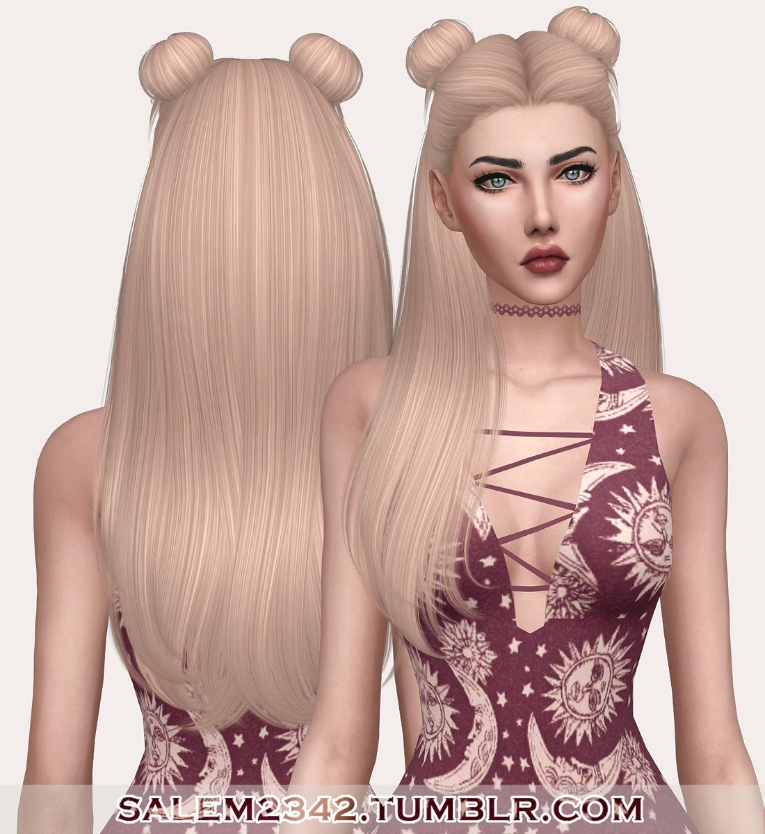 Sims 3&4 — salem2342 Nightcrawler Galaxy Hair Retexture