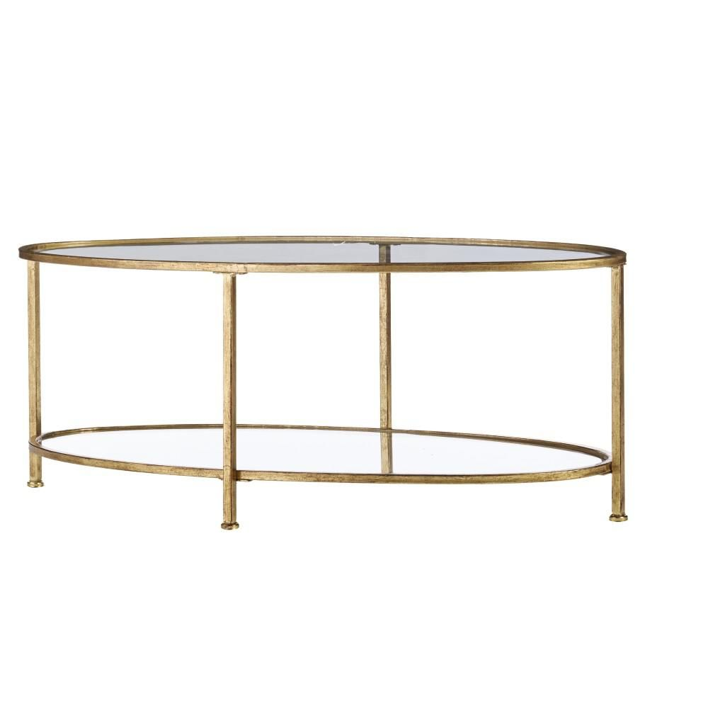 Home Decorators Collection Bella Aged Gold Oval Glass Coffee Table 9967300910 The Home Depot Oval Glass Coffee Table Coffee Table Glass Coffee Table [ jpg ]